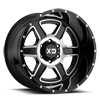 XD832 Fusion Gloss Black Machined 6 lug