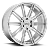 KM707 Channel Brushed Silver 6 lug