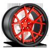 KPS Brushed Gloss Red/Gloss Black 5 lug