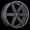 Sardinia-6 Black with Chrome Pinstripe 6 lug