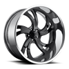 Kompressor 5 - U451 Gloss Black with Polished Lip 5 lug