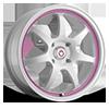 Forward White with Pink Stripe 4 lug