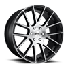Luxe - S206 Gloss Black Brushed 6 lug