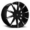 CSS-15 Black & Machined 5 lug