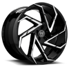 Cyclone Black & Machined Face 5 lug
