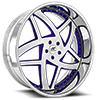 Loyalty Purple and Chrome 5 lug