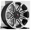 M01 Black Machined 6 lug