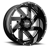 MO988 Melee Gloss Black Milled 8 lug