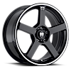 5 LUG MR116 GLOSS BLACK W/ MACHINED FLANGE