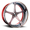 MARTELLATO Red/Satin Center, Chrome Lip 6 lug