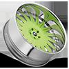5 LUG MERANO GREEN WITH CHROME LIP