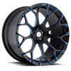DREA-M Black/Blue 5 lug