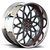 Motivo Cut Black and Red with Black Lip 5 lug
