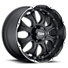 MO959 Matte Black Machined 5 lug