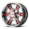 MO969 Chrome w/ Red Accents 5 lug