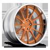Agile Brushed Matte Orange Tint | Chrome 5 lug