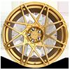 5 LUG ALPINE-D BRUSHED TRANSPARENT MATTE GOLD
