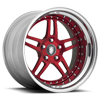 605 Step-Lip Red with Chrome Lip 5 lug