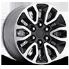 151 Gloss Black Machined 6 lug
