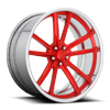 5 LUG BASTILLE CONCAVE - US587 BRUSHED CANDY RED GLOSS