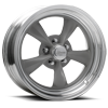 R23 Fuel Gray Paint Center / Machined Outer 5 lug
