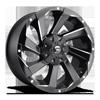 Razor - D592 Black & Milled 8 lug