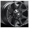 98R Flat Black 6 lug