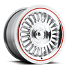 Riviera - FR04 Polished with custom painted white wall 5 lug