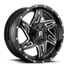 Rocker - D613 Gloss Black & Milled 5 lug