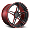 Roma 21x11 Matte Black w/ Candy Red 5 lug