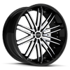 R980 Gloss Black w/ Machined Face 5 lug