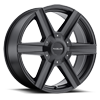 157 Phantom Satin Black 6 lug