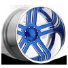 Split Spoke Blue 8 lug