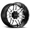 931M Injector 20x12 Black Machined 8 lug