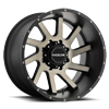 932 Twist Matte Black w/Dark Tint - 20x12 8 lug