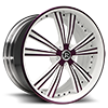 Raggio White and Purple 5 lug