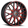 R24 Red/Black Machined 5 lug