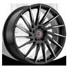 R15 Black Machined 5 lug