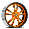 Raggio Orange and Black 5 lug