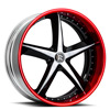 5 LUG SWOOPS BLACK AND RED