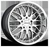 R10 Silver with Chrome Lip 5 lug