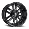 Sledge - D595 Gloss Black & Milled 6 lug