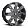 Stacks - S227 Gloss Black & Milled 5 lug