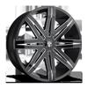 Stacks - S227 Gloss Black & Milled 6 lug
