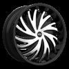 S836 Hurricane Gloss Black w/ Chrome Inserts 5 lug