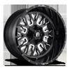Stroke - D611 Gloss Black & Milled 6 lug