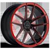 SV40-M Black and Red 5 lug