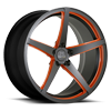 5 LUG SV44-M BLACK AND ORANGE