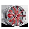 SV46-S Red with Chrome Lip 5 lug
