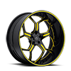 SV53-S Black and Yellow 5 lug